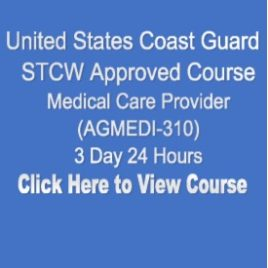 USCG NMC STCW Approved Medical Care Provider 3 Day 24 Hours Click on Picture to View Description of Course and Pay
